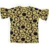 Bell Sleeve Dress, Yellow/Black Circles