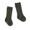 Organic Ribbed Knee Sock, Jade
