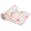 Deluxe Muslin Swaddle, Pink Ladies Flamingo