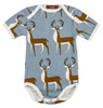 Organic Blue Buck Short Sleeve Bodysuit