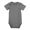 Pima Cotton Short Sleeve Bodysuit, Grey