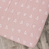 Muslin Crib Sheet, Blush Triangles