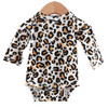 Long Sleeve Bodysuit, Leopard