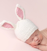 Bunny Hat, White/Pink