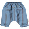Baby Trousers, Blue w/Colored Stripes