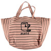 Oversized Bag, Pink Stripes with Pause Print