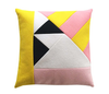 How About Frankie Cushion Cover, Yellow/Pink