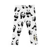 Organic Leggings, White Panda