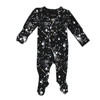 Organic Footed Overall, Black Splatter