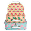 Set of 3 Suitcases, Tropical Summer