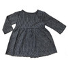 Short Prairie Dress, Navy Mini Stripe