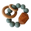 Hayes Silicone + Wood Teether, Succulent