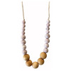 Landon Teething Necklace, Rose Quartz