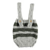 Knitted Baby Shorties with Straps, Grey and Khaki Stripes