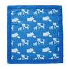 Muslin Mini Blankie, Cows & Pigs Blue