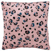 Square Pillow, Rose Leopard