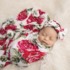 Swaddle & Headband Set, Dolce Rose