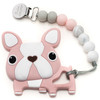 Dog Teether w/Beads, Pink