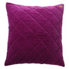 Quilted Velvet Euro Cover, Grape Skin Purple