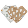 Muslin & Terry Cloth Bib Set, Safari