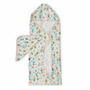 Terry Cloth & Bamboo Hooded Towel Set, Cactus