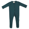 Bamboo Footed Romper, Emerald