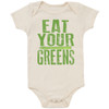 Organic Cotton Bodysuit, Eat Your Greens