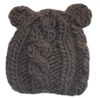 Cable Bear Hat, Brown