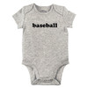Baseball Bodysuit, Grey