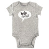 Hello World Bodysuit, Grey