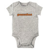 Pancakes Bodysuit, Grey