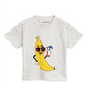 Mini Rodini Banana Short Sleeve Tee, Offwhite