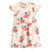 Mini Rodini Whale Wing Dress, Pink