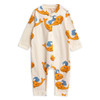 Mini Rodini Whale Romper, Orange