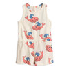 Mini Rodini Whale Summersuit, Pink