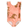 Mini Rodini Crocco Ruffled Swimsuit, Pink