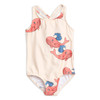 Mini Rodini Whale Sporty Swimsuit, Pink