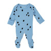Organic Footed Romper, River Stone
