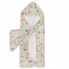 Terry Cloth & Bamboo Hooded Towel Set, Wild Rose
