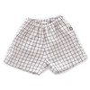 Oeuf Linen Shorts, Beige/Blue Checks
