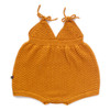 Oeuf Knit Playsuit, Ochre