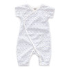 Oeuf Short Sleeve Kimono Jumper, White/Numbers