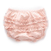 Oeuf Ruffle Bum Cover, Light Pink/Rust Dots