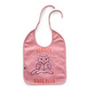 Oeuf Large Bib, Dark Pink/Book Club