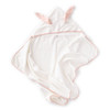 Oeuf Hooded Towel, Light Pink/Rust Dots