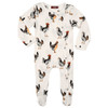 Organic Footed Romper, Chicken