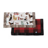 Dogs & Buffalo Plaid Security Blankets, 2-pack