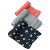 Muslin Swaddle Set, Midnight Rose