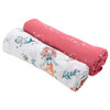 Muslin Swaddle Set, Mermaid/Bubbles