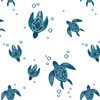 Muslin Changing Pad Cover, Sea Turtles